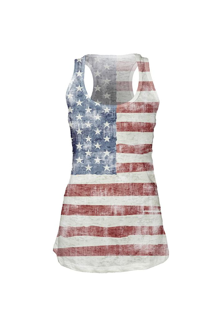 Team USA Juniors Red All Over Flag Short Sleeve Tank Top - Image 1
