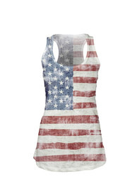 Team USA Juniors Red All Over Flag Tank Top