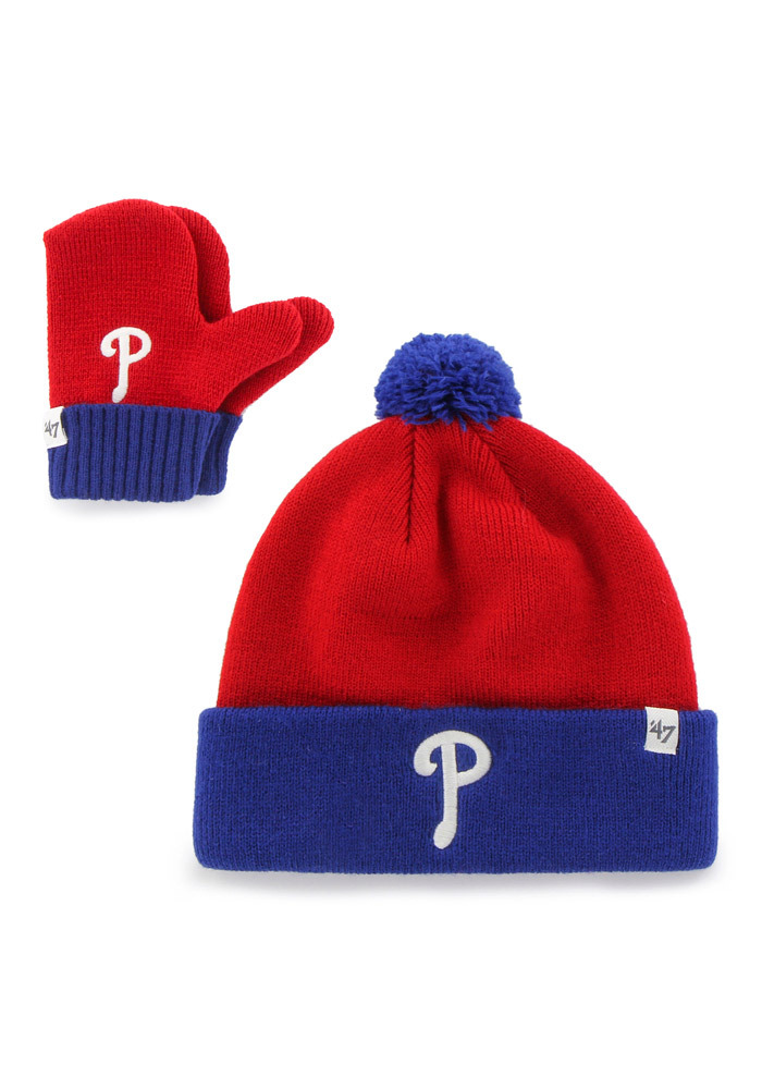 '47 Philadelphia Phillies Blue Bam Bam Baby Knit Hat - Image 1