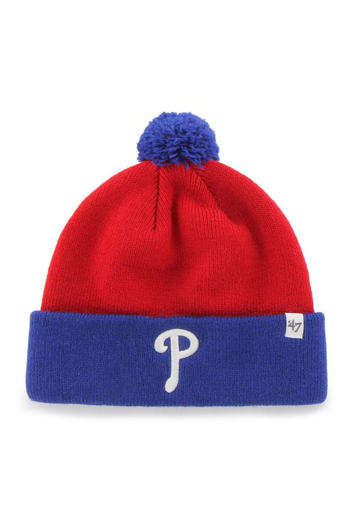 '47 Philadelphia Phillies Blue Bam Bam Baby Knit Hat - Image 3