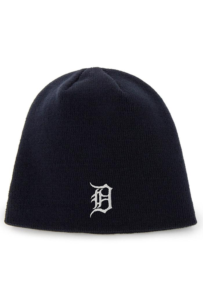 '47 Detroit Tigers Navy Blue Beanie Mens Knit Hat - Image 1