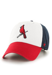 '47 Brand STL Cardinals Mens White Clean Up Adjustable Hat