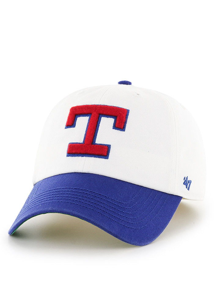 '47 Texas Rangers Mens White Retro 47 Franchise Fitted Hat - Image 1