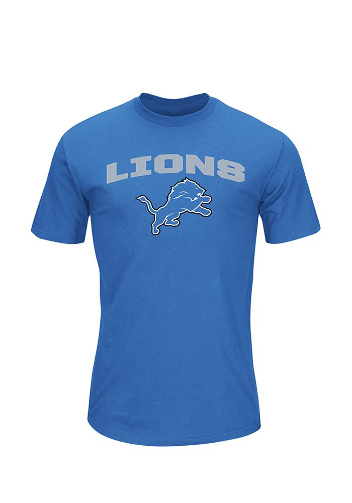 Majestic Detroit Lions Blue Line of Scrimmage Tee