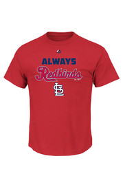 Majestic St Louis Cardinals Red Always Logo Fashion Tee