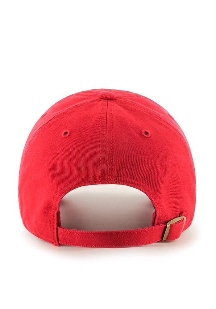 '47 Cincinnati Reds Mens Red Clean Up Adjustable Hat - Image 3