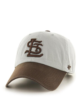 '47 St Louis Browns Mens Grey Clean Up Adjustable Hat