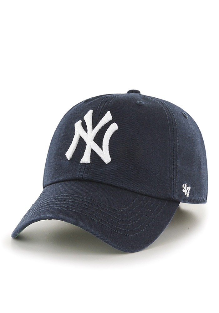 a2e98b83a  47 New York Yankees Mens Navy Blue `47 Franchise Fitted Hat - Image 1.