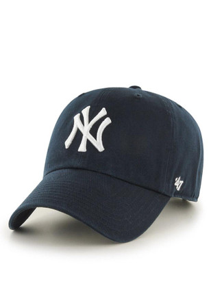 '47 New York Yankees Mens Navy Blue Clean Up Adjustable Hat