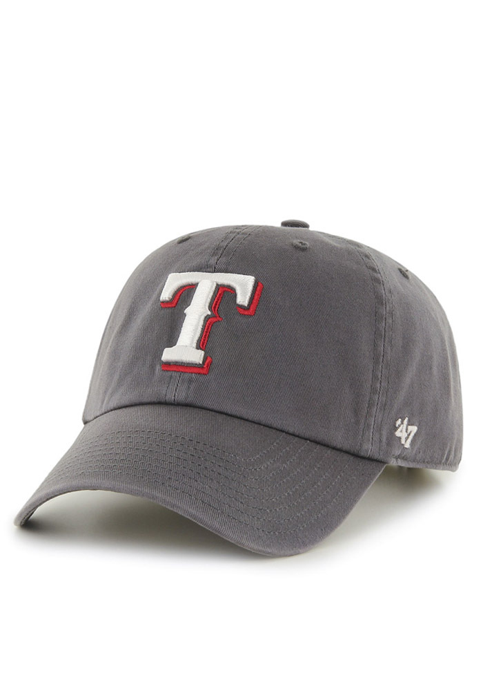 47 Texas Rangers Clean Up Adjustable Hat - Charcoal - Image 1