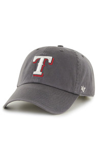 47 Texas Rangers Clean Up Adjustable Hat - Charcoal