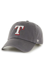 Texas Rangers 47 Clean Up Adjustable Hat - Charcoal