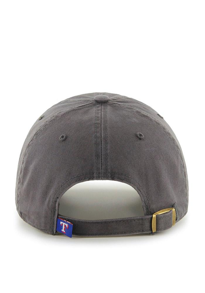 47 Texas Rangers Clean Up Adjustable Hat - Charcoal - Image 2