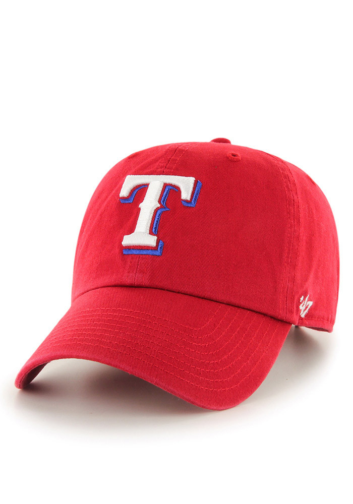 '47 Texas Rangers Mens Red Clean Up Adjustable Hat - Image 1