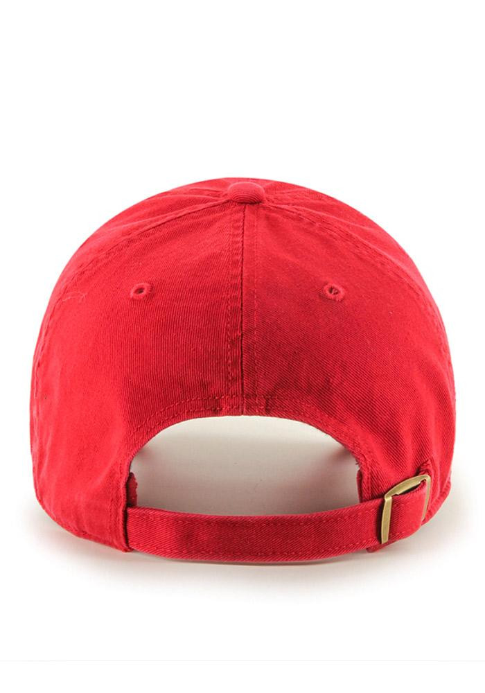 '47 Texas Rangers Mens Red Clean Up Adjustable Hat - Image 3
