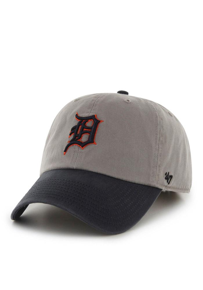 '47 Detroit Tigers Mens Grey Clean Up Adjustable Hat - Image 1