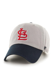 '47 Brand STL Cardinals Mens Gray Clean Up Adjustable Hat