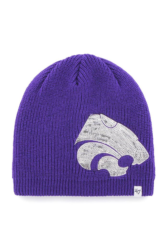 '47 K-State Wildcats Purple Sparkle Womens Knit Hat - Image 2