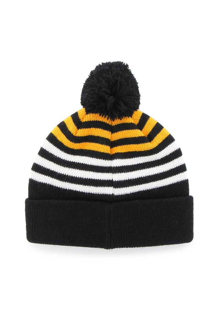 47 Pittsburgh Pirates Black Yipes Cuff Youth Knit Hat - Image 2