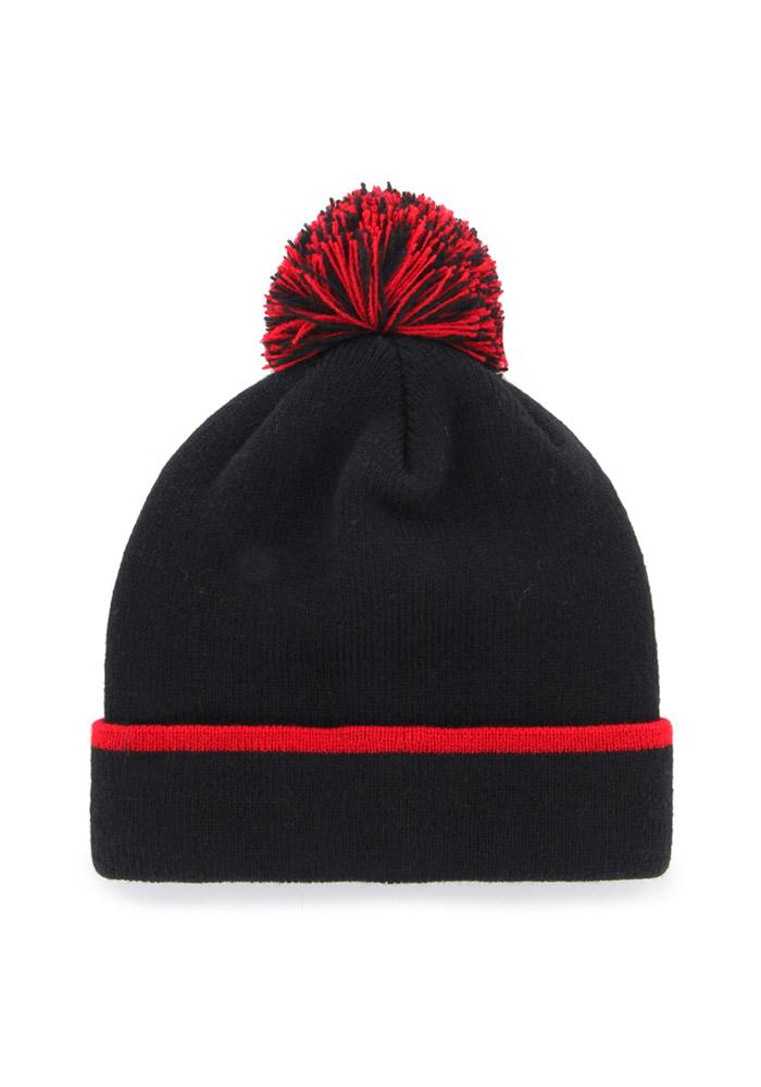 '47 Cincinnati Bearcats Black Baraka Mens Knit Hat - Image 2