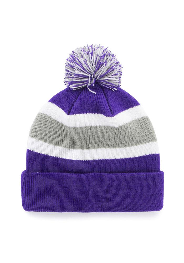 '47 K-State Wildcats Purple Breakaway Cuff Mens Knit Hat - Image 2