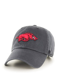 47 Arkansas Razorbacks Clean Up Adjustable Hat - Charcoal