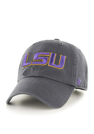 LSU Tigers 47 Clean Up Adjustable Hat - Charcoal