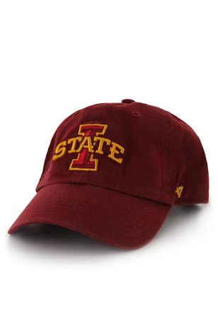 '47 Iowa State Cyclones Mens Cardinal Clean Up Adjustable Hat