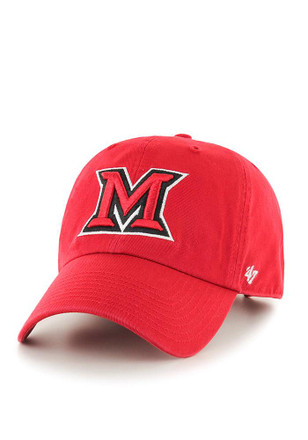 '47 Miami Redhawks Mens Red Clean Up Adjustable Hat
