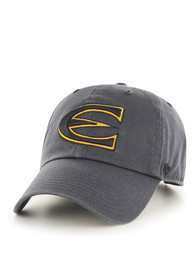 47 Emporia State Hornets Clean Up Adjustable Hat - Charcoal