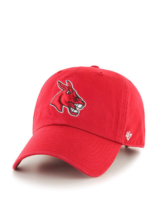 '47 Central Missouri Mules Mens Red Clean Up Adjustable Hat