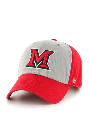'47 Miami Redhawks Mens Red Sophomore Clean Up Adjustable Hat