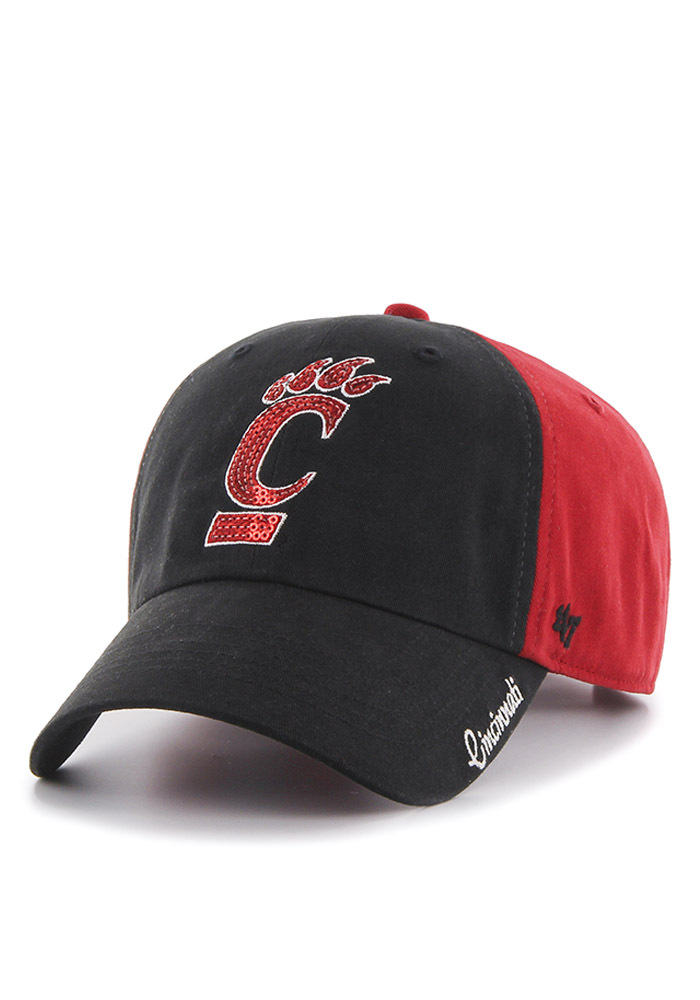 '47 Cincinnati Bearcats Red Two Tone Sparkle Womens Adjustable Hat - Image 1