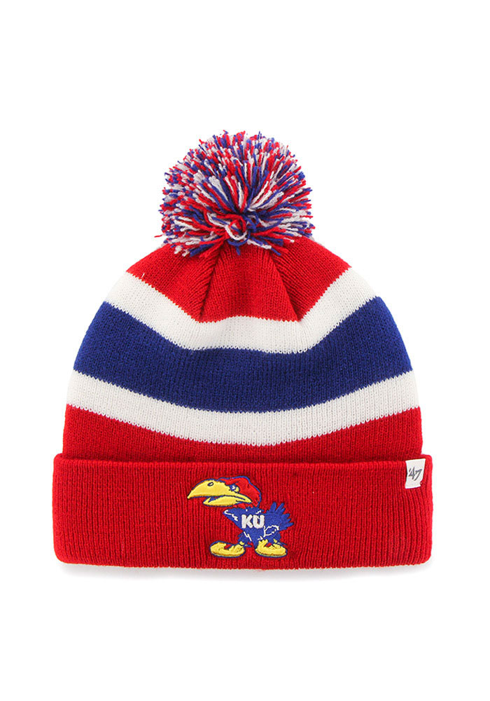 47 Kansas Jayhawks Red Breakaway Knit Hat
