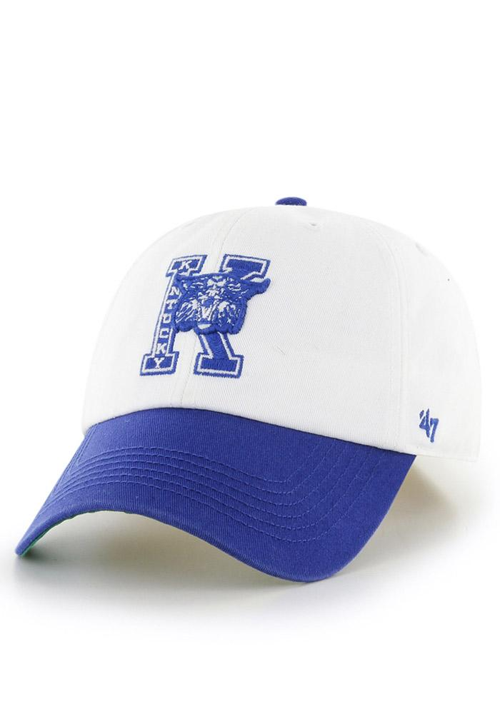 '47 Kentucky Wildcats Mens White `47 Franchise Fitted Hat - Image 2