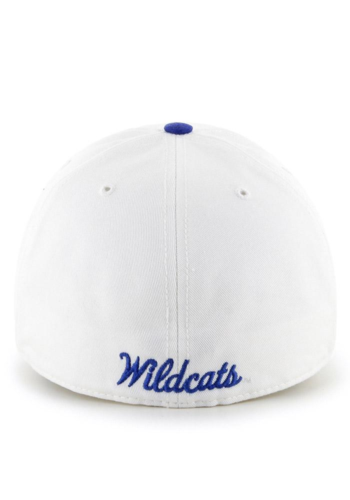 '47 Kentucky Wildcats Mens White `47 Franchise Fitted Hat - Image 3