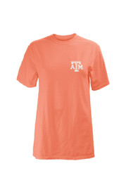 Texas A&M Womens coral Antoinette Unisex Tee