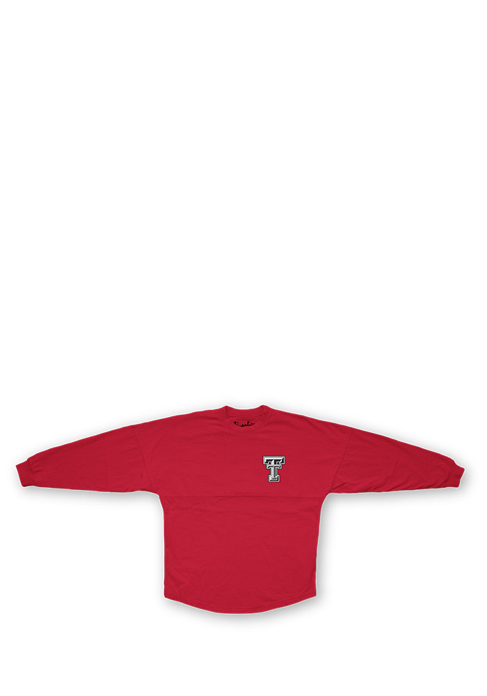 Texas Tech Red Raiders Womens Red Sequin Sweeper LS Tee 22640648