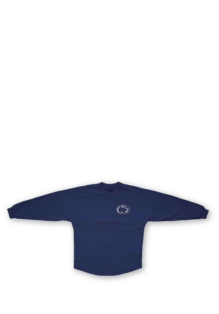 Penn State Nittany Lions Womens Navy Blue Sequin Sweeper LS Tee - Image 1