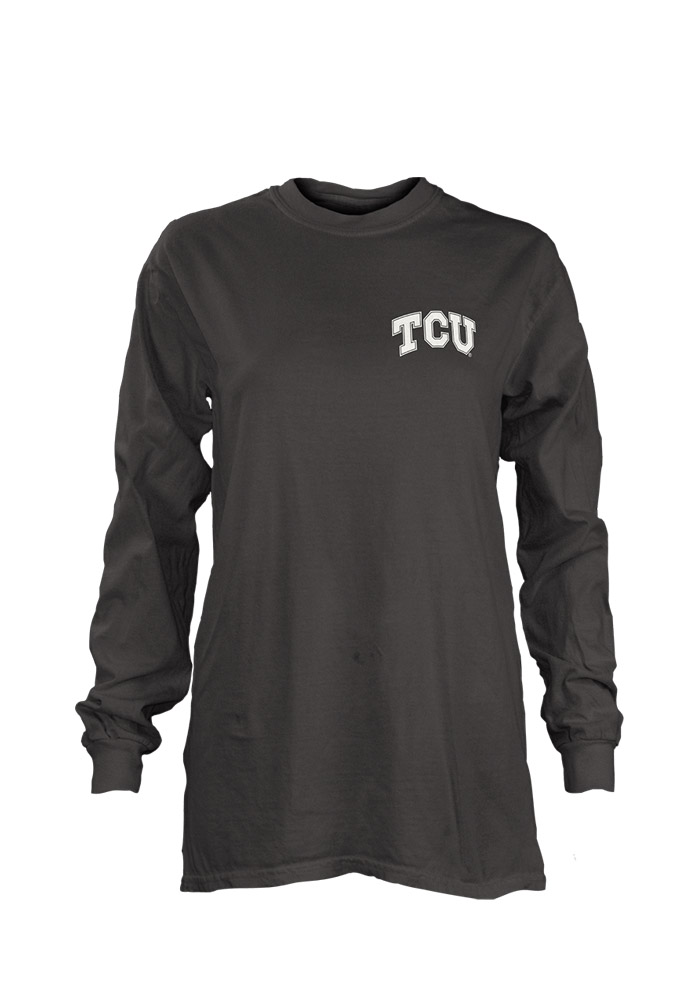 Horned Frogs Womens Aztec State Grey LS Tee 22640734