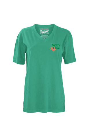 North Texas Mean Green Womens Teal Floral Unisex Tee