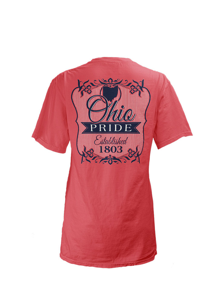 Ohio Womens Pink Flora Short Sleeve T Shirt - Image 2
