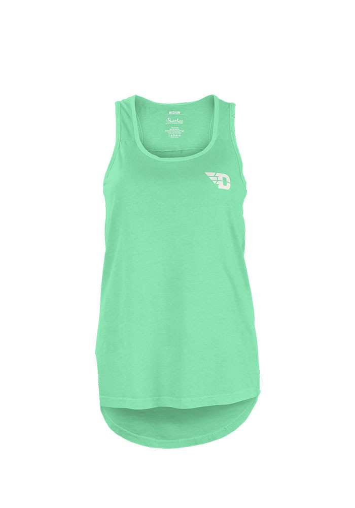Dayton Flyers Womens Green Paisley Frame Tank Top - Image 1