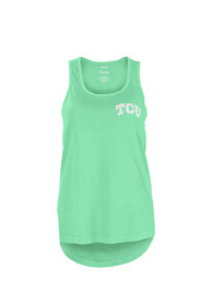 TCU Horned Frogs Womens Paisley Frame Tank Top - Green