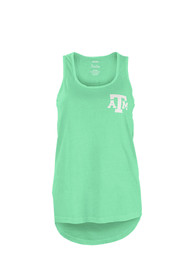 Texas A&M Aggies Womens Green Paisley Frame Tank Top