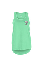 Texas Tech Red Raiders Womens Green Paisley Frame Tank Top