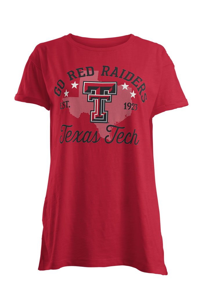 Texas Tech Red Raiders Womens Red Abingdon Short Sleeve T-Shirt - Image 1