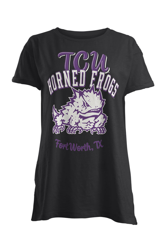 TCU Horned Frogs Womens Black Blythe Short Sleeve T-Shirt - Image 1