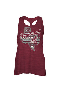 Texas A&M Aggies Womens Maroon Aztec Nation Tank Top