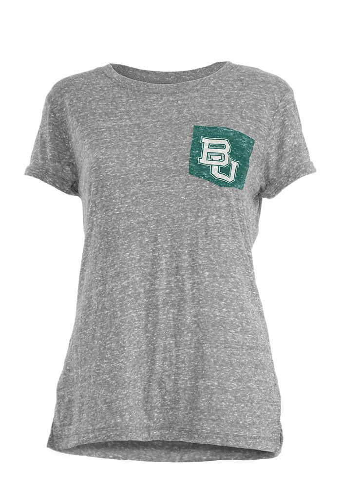 Baylor Bears Womens Grey Bandy Short Sleeve Crew T-Shirt - Image 1